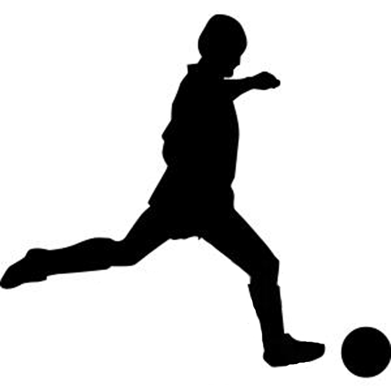 1250x1250 Soccer Player Silhouette Clipart Library
