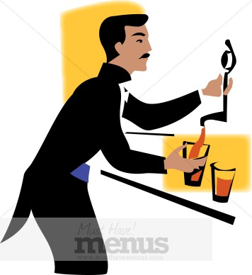 356x388 Beer Bartender Clipart Catering Clipart