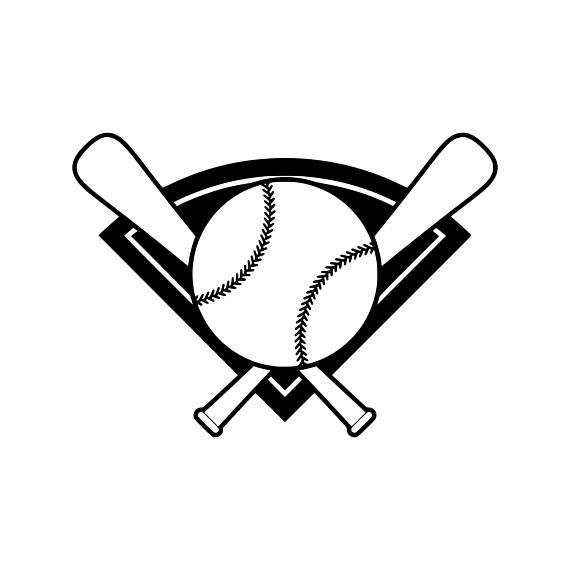 570x570 Baseball Bat Svg Baseball Svg Baseball Silhouette Baseball Cut