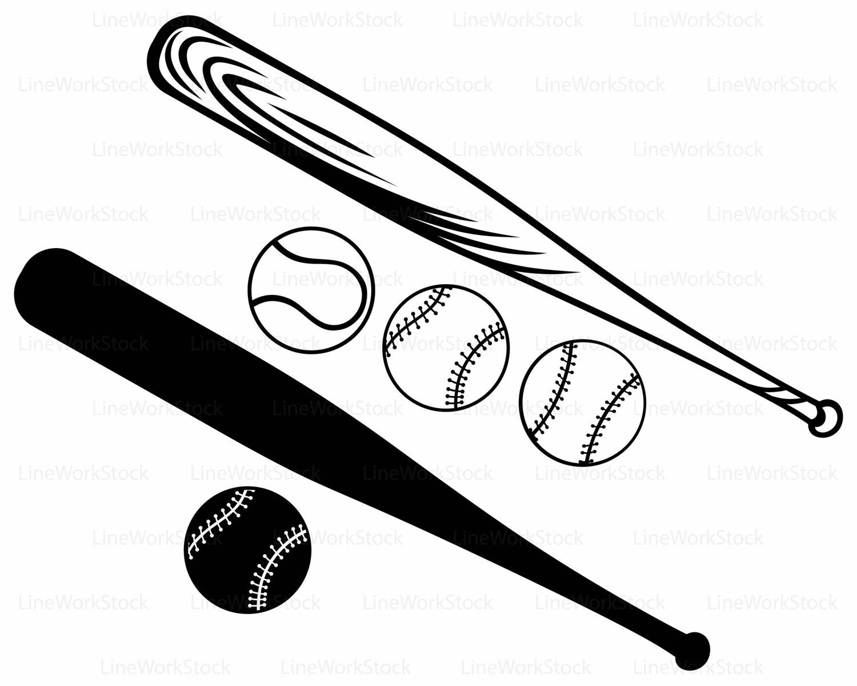1500x1200 Baseball Bat Svgaseball Ball Clipartaseball Svgaseball Bat