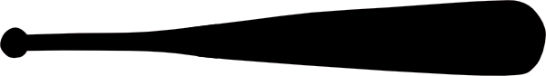 600x84 Baseball Bat Clip Art