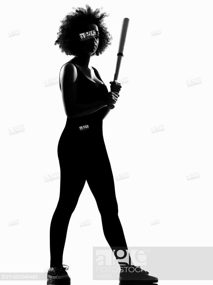 700x936 Beautiful Funny Young Afro American Woman Holding A Baseball Bat