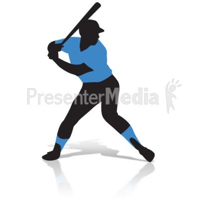 400x400 Baseball Player Silhouette
