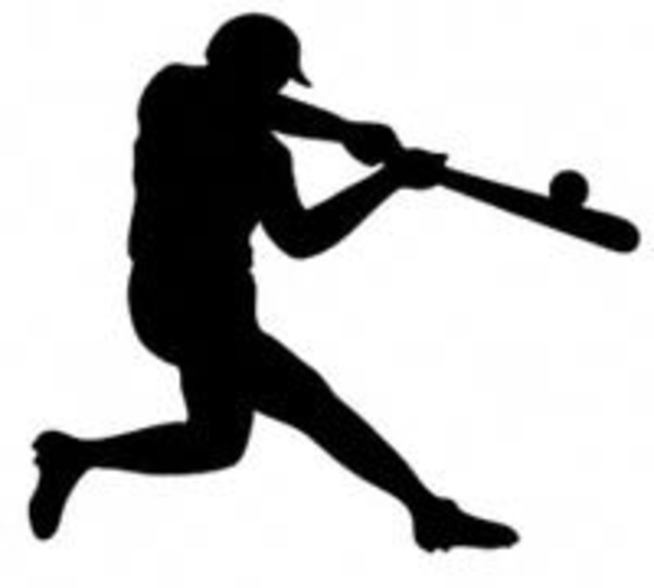 600x540 Baseball Silhouette Free Images