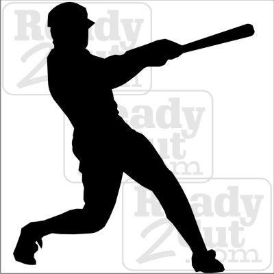 400x400 Baseball Batter. Vector Images