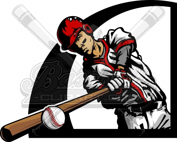 590x475 Baseball Batter Clipart. Baseball Player Silhouette Image.