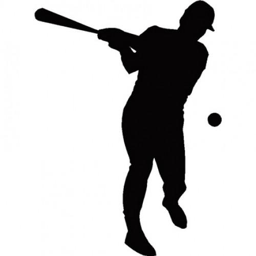 500x500 Baseball Batter Silhouette