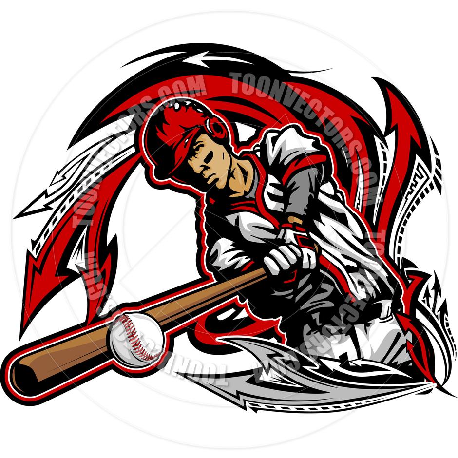 940x940 Baseball Batter Swinging