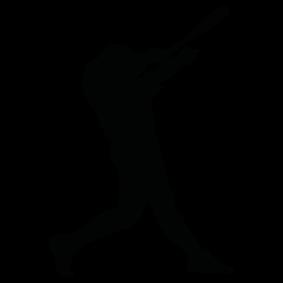 283x283 Batter Boy Silhouette Silhouette Of Batter Boy