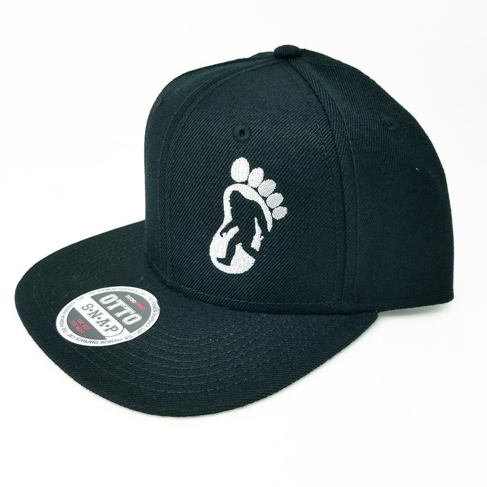 1000x1000 Big Foot Silhouette Flat Six Panel Pro Style Snapback Hat