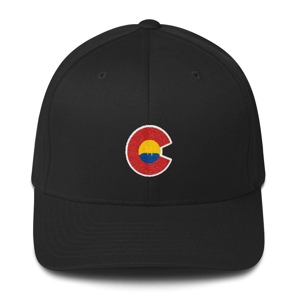 1000x1000 Colorado Logo With Horsetooth Rock Silhouette Baseball Cap Foco