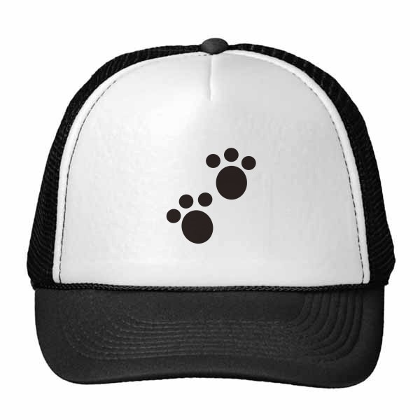 600x600 Dog Animal Claw Paw Print Silhouette Protect Animal Trucker Hat