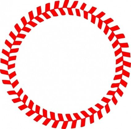425x418 Baseball Stitches In A Circle Vector My Style