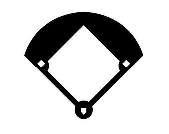 340x270 Baseball Diamond Art Etsy