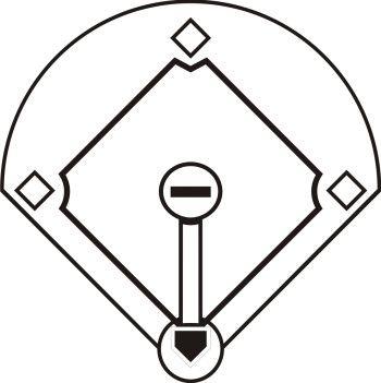 350x351 Black And White Baseball Field Clipart.jpg Bakering
