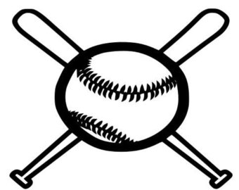 340x270 Baseball Stitches Seams Logo Outline Laptop Cup Decal Svg Digital