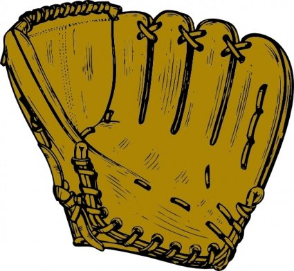 425x391 Baseball Glove Clip Art, Free Vector Baseball Glove