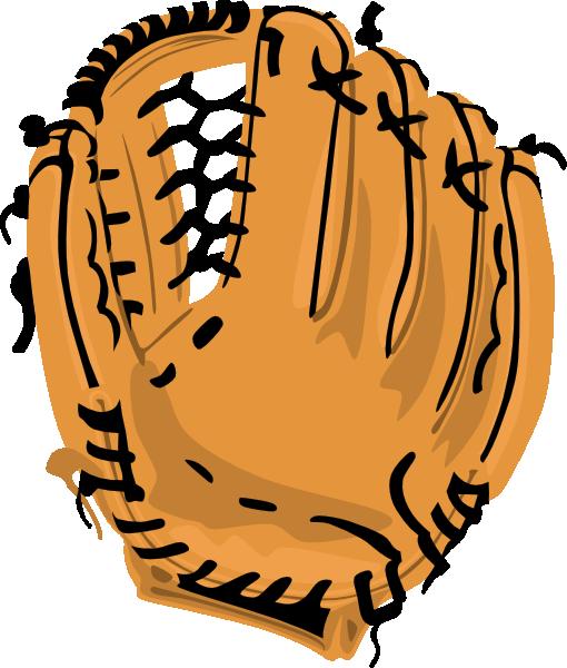 510x600 Baseball Glove Clip Art Free Vector 4vector