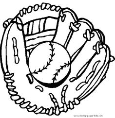 236x243 Baseball Mitt Pattern. Use The Printable Outline For Crafts