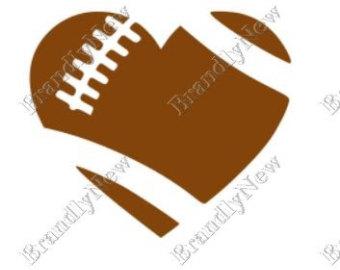 340x270 Football Outline Svg Etsy
