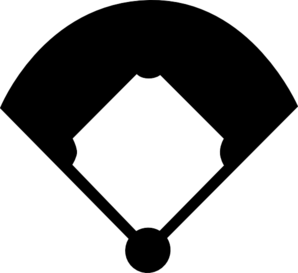 298x273 Baseball Field Silhouette Clip Art