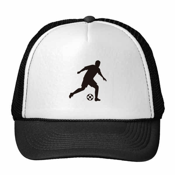 600x600 Football Soccer Sports Silhouette Trucker Hat Baseball Cap Nylon