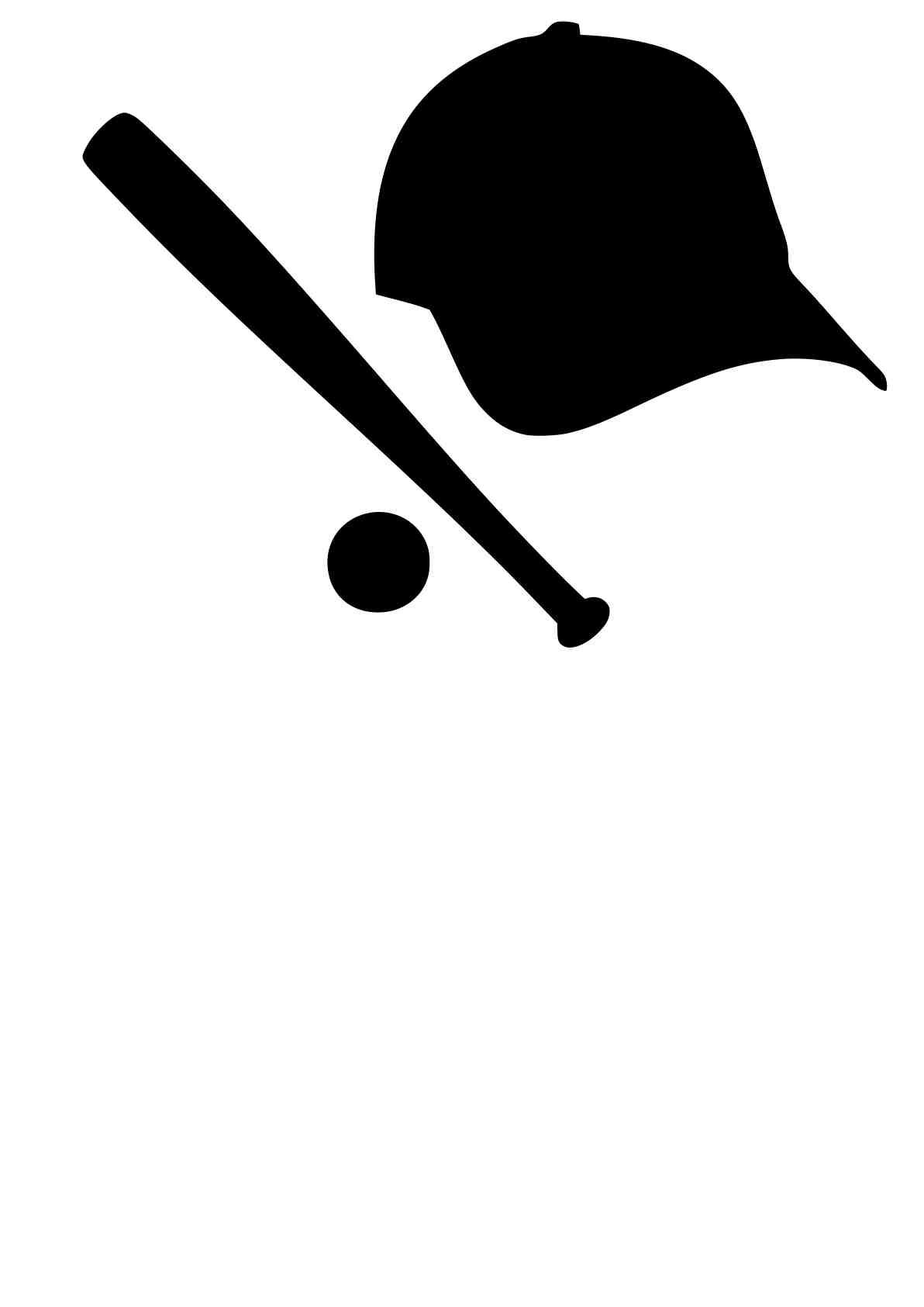 1192x1685 Free Svg Download Baseball Hat, Ball Amp Bat Beaoriginal