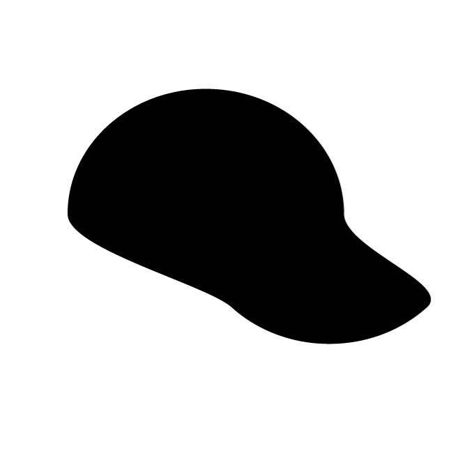 660x660 Baseball Hat Silhouette