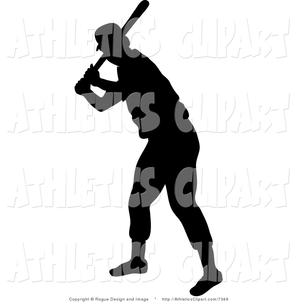 1024x1044 Vector Clip Art Of A Silhouetted Baseball Batter