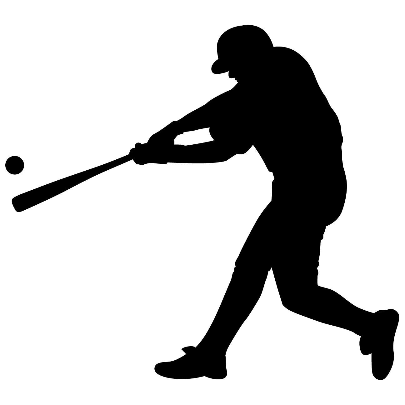1296x1296 Baseball Batter Wall Decal Sticker 43 Baseball Wall, Wall Decal