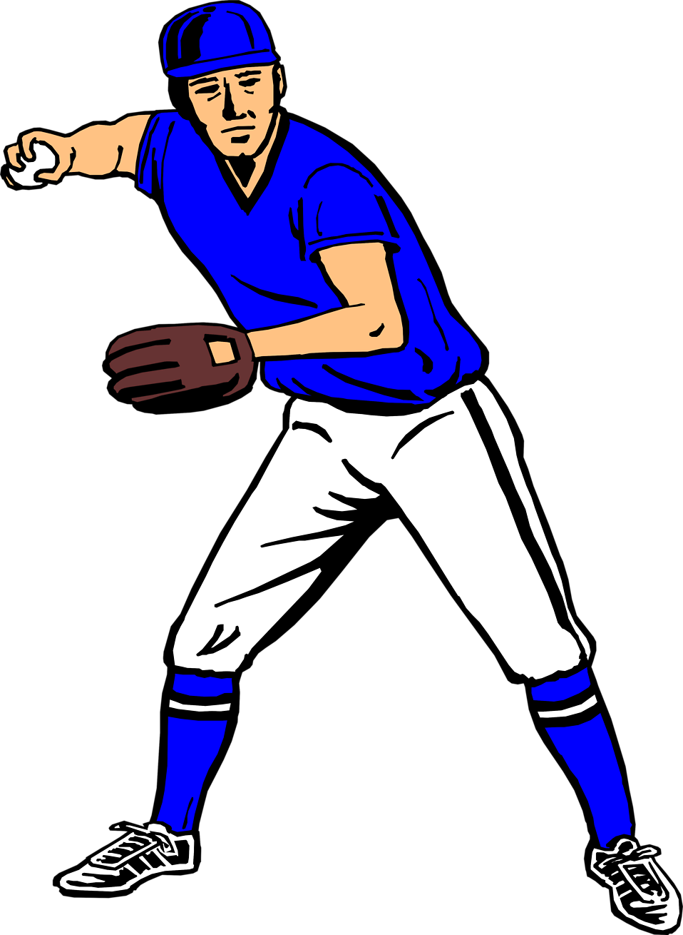 958x1310 Free Clipart Baseball Player Silhouette 2