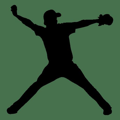 512x512 Baseball Pitcher Silhouette