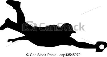 450x243 Baseball Player Catcher Silhouette Vectors Illustration