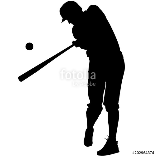 500x500 Baseball Player Silhouette, Baseball Pitcher Clipart, Baseball