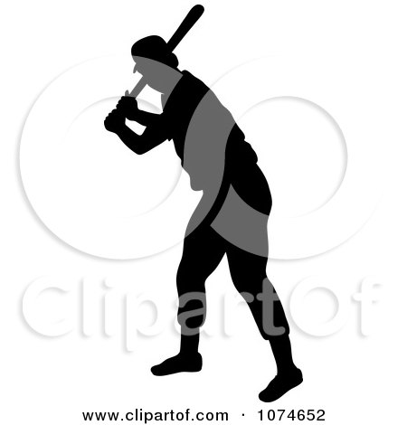 450x470 Clipart Silhouetted Baseball Player Pitching