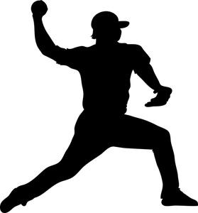279x300 Silhouette Clipart Baseball