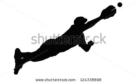 450x273 Player Sliding Silhouette Clipart