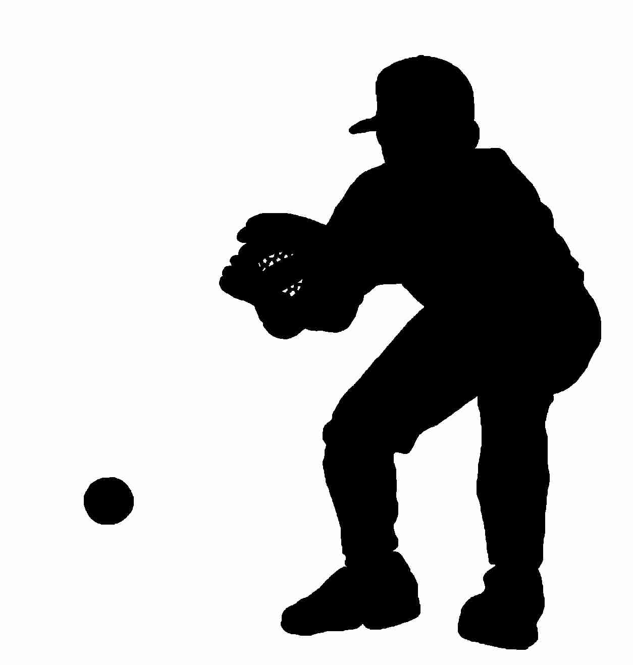 1254x1317 Baseball Player Silhouettes Royalty Free Vector Image Lively