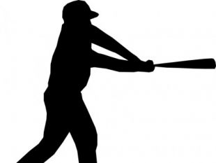 310x233 Baseball Player Silhouette Vector Free Vectors Ui Download
