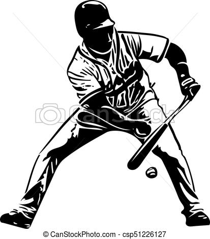 413x470 Illustration Of Baseball Player Playing With Abstract Vector