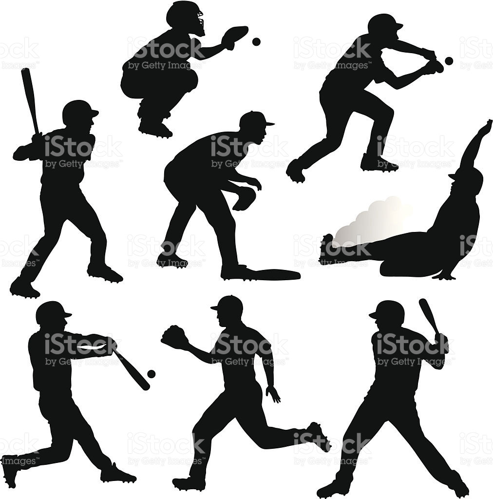 1012x1024 Pitcher Clipart Baseball Player Silhouette Pencil And In Color
