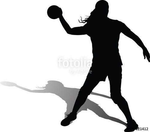 500x441 Handball Girl Player Silhouette Stock Image And Royalty Free