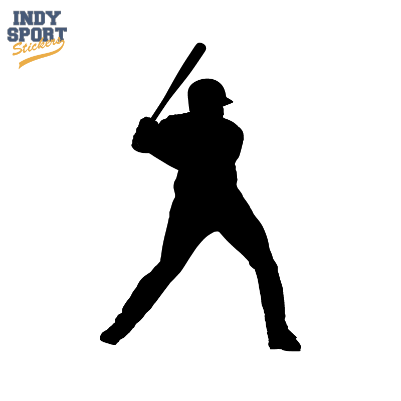 800x800 Baseball Batter With Silhouette