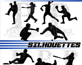340x270 Baseball Player Svg Baseball Vector Design For Silhouette Cameo