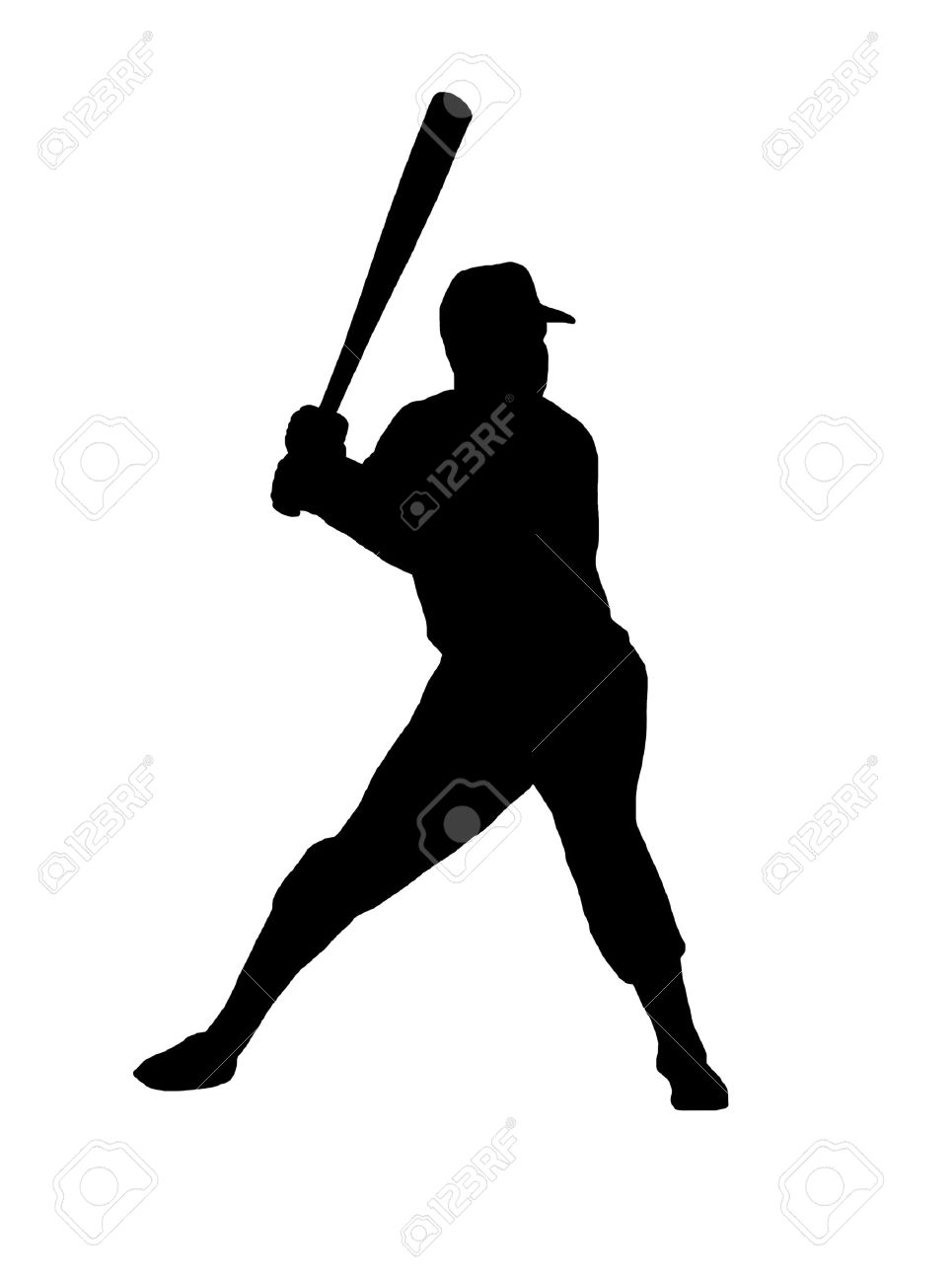 965x1300 Baseball Player Silhouette Clipart Collection