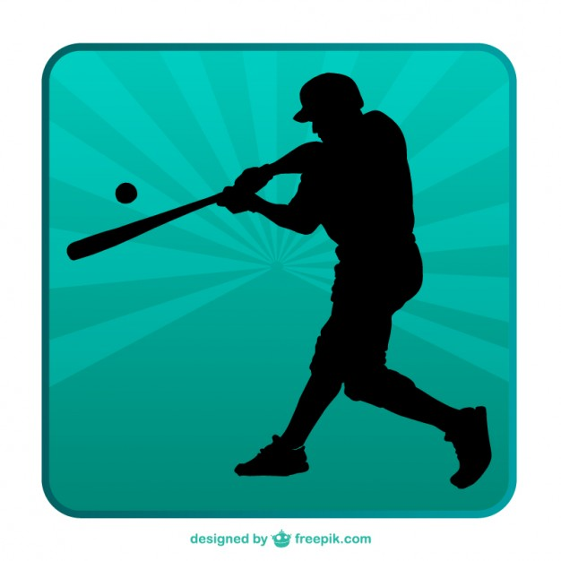 626x626 Baseball Silhouette Background Vector Free Download