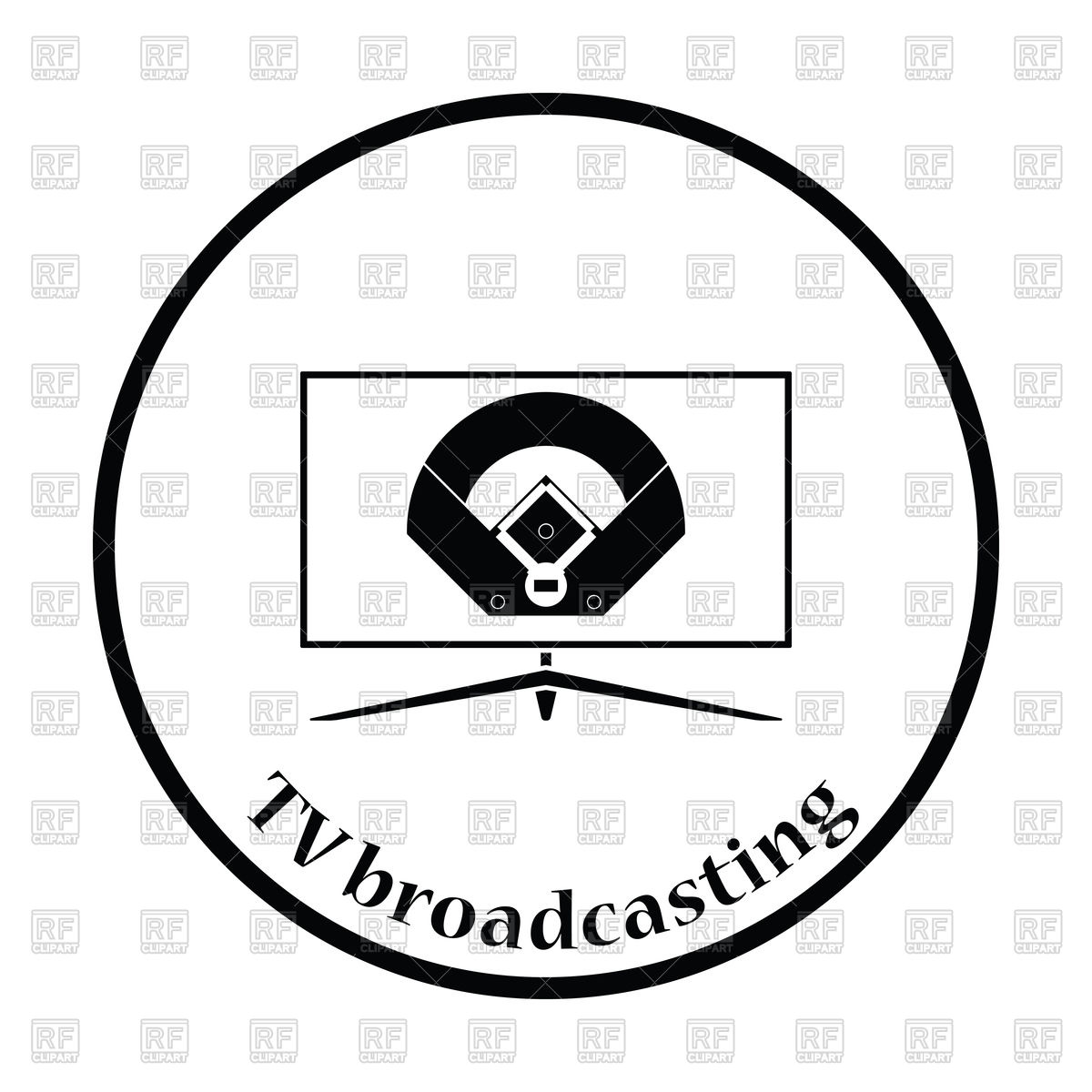 1200x1200 Silhouette Of Baseball Tv Translation Royalty Free Vector Clip Art