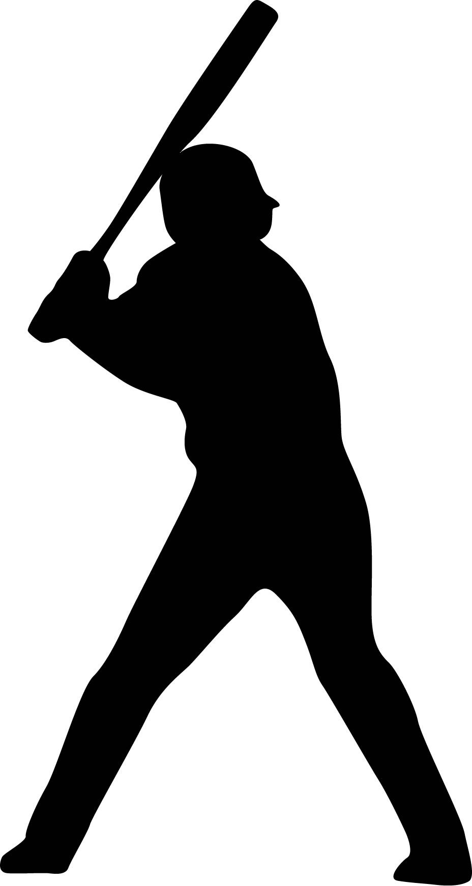 928x1740 Baseball Player Batting Stance Righty Silhouette Custom Wall