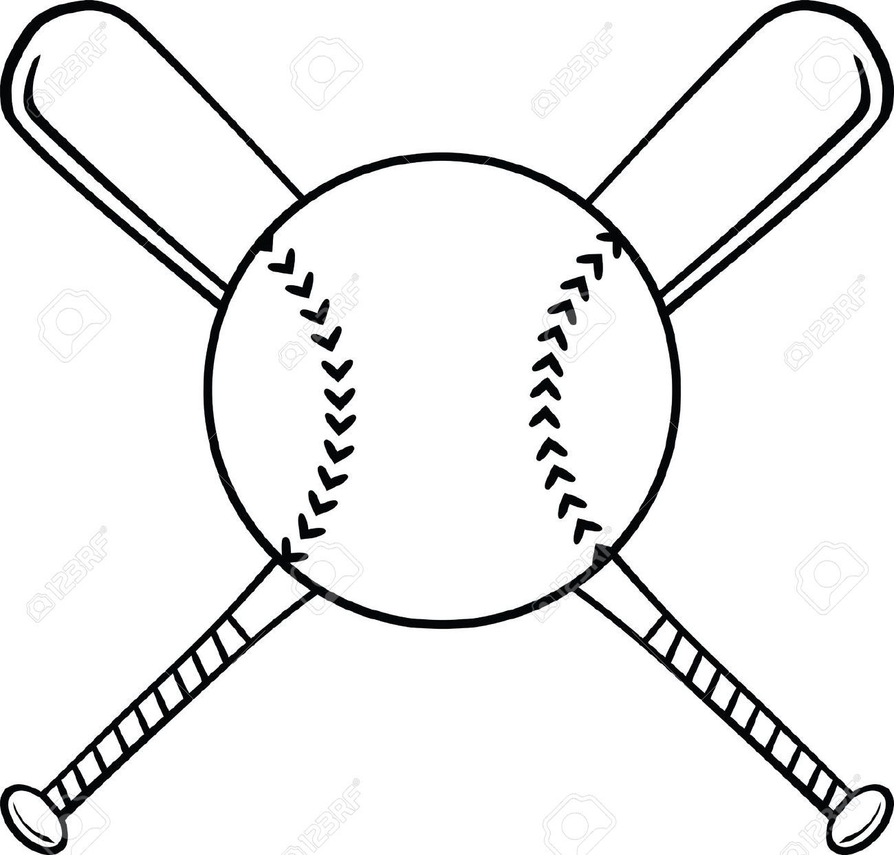 1300x1244 Softball Ball And Bat Clipart