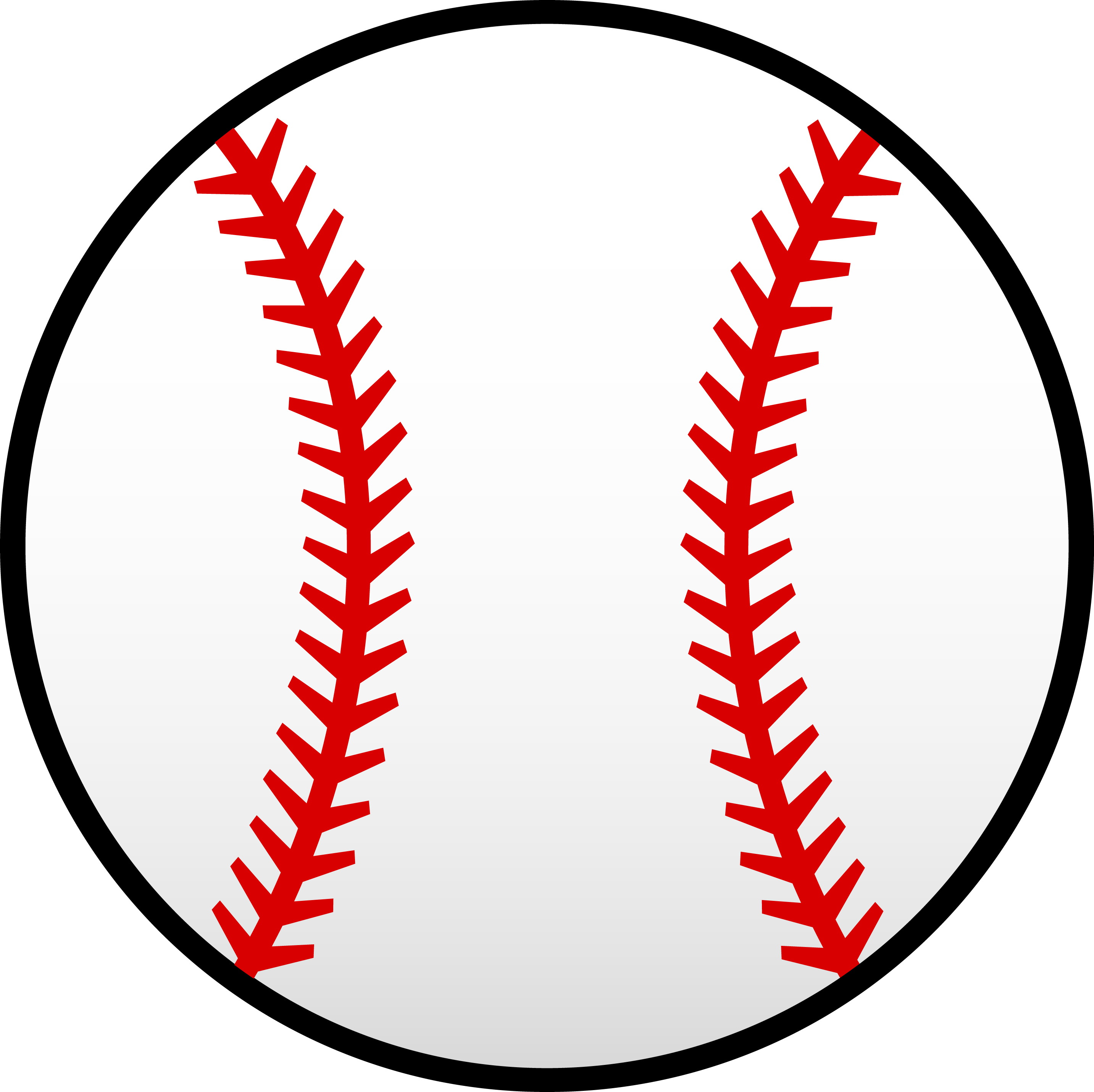 2866x2862 Baseball Pattern White Baseball With Red Seams